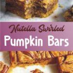 Nutella Swirled Pumpkin Bars