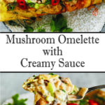 Mushroom Omelette with Creamy Sauce