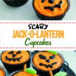 Scary Jack-O-Lantern Cupcakes