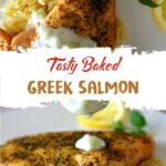Tasty Baked Greek Salmon